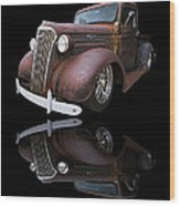 Old Chevy Wood Print by Debra and Dave Vanderlaan