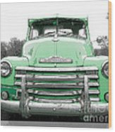 Old Chevy Pickup Truck Wood Print
