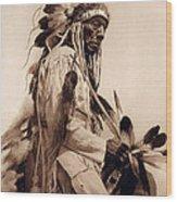 Old Cheyenne Wood Print