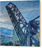 Old Chicago Draw Bridge Wood Print