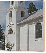 Old Church Building Wood Print