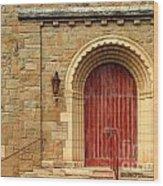 Old Church Door Wood Print