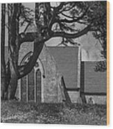 Old Church In The Hill Wood Print
