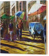 Old City Ahmedabad  Series 2 Wood Print