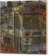 Old City Bus Wood Print by Paul Herrmann