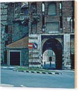 Old City Gate Vicenza 1962 Wood Print