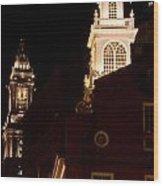 Old City Hall And Custom House Tower Wood Print