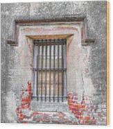 The Old City Jail Window Chs Wood Print