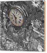 Old Clock Wood Print