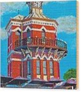 Old Clock Tower Wood Print