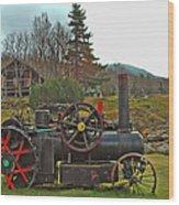 Old Cog Wood Print