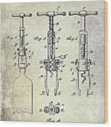 Corkscrew Patent Wood Print