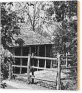Old Corral And Barn Wood Print
