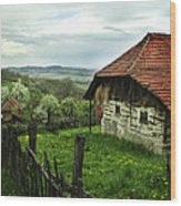 Old Cottage Wood Print by Jelena Jovanovic