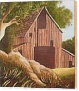 Old Country Barn Wood Print by Janis  Tafoya