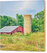 Old Country Farm And Barn Wood Print