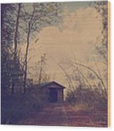 Old Country Road  Wood Print
