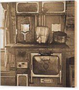 Old Country Stove Wood Print