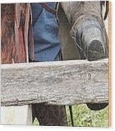 Old Cowboy Wood Print