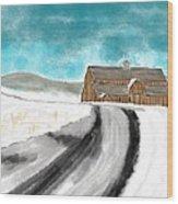 Old Dairy Barn Wood Print