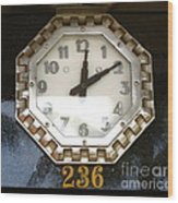 Old Decco Store Clock At 236 Worth Ave Palm Beach Fl Wood Print