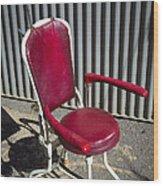 Old Dentist Chair Wood Print