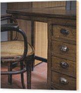 Old Desk Wood Print by Leonardo Marangi