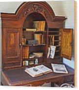 Old Desk Wood Print