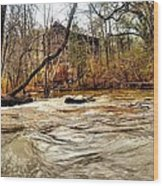 Old Dial Mill On The Rushing Waters Of Big Haynes Creek Wood Print