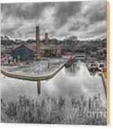 Old Dock Wood Print by Adrian Evans