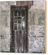 Old Door - Abandoned Building - Tea Wood Print by Gary Heller