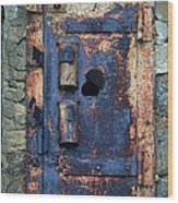 Old Door At Abandoned Prison Wood Print