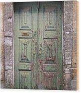 Old Door Wood Print