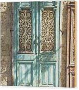 Old Door In Jersusalem Israel Wood Print