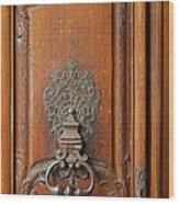 Old Door Knocker Wood Print