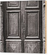 Old Door Wood Print by Olivier Le Queinec