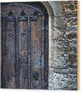 Old Door With Spider Webs Wood Print