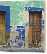 Old Doors, Mexico Wood Print