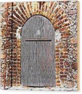 Old Doorway Of Pidgeon Island Fort Wood Print