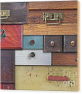 Old Drawers - In Utter Secrecy Wood Print