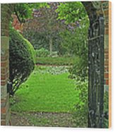 Old English Garden Wood Print