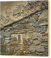 Old Eroded Stone Wall Wood Print