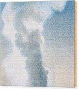 Old Faithful Geyser Yellowstone Np Wood Print