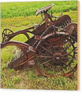 Old Farm Equipment Hardin Montana Wood Print