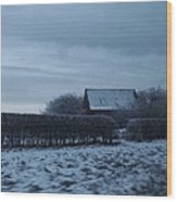 Old Farm House In Northern Yorkshire Wood Print