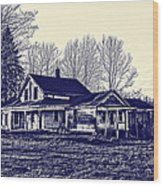 Old Farm House Wood Print by Jim Lepard