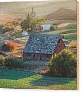 Old Farm In Eastern Washington Wood Print