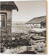 Old Farm Wood Print by Baywest Imaging