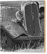 Old Farm Truck Wood Print
