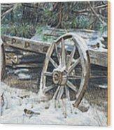 Old Farm Wagon Wood Print by Nick Payne